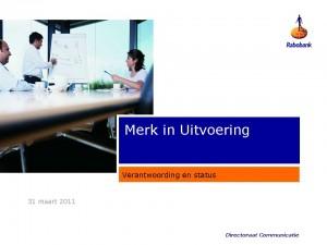 presentatie verantwoording Merk in Uitvoering